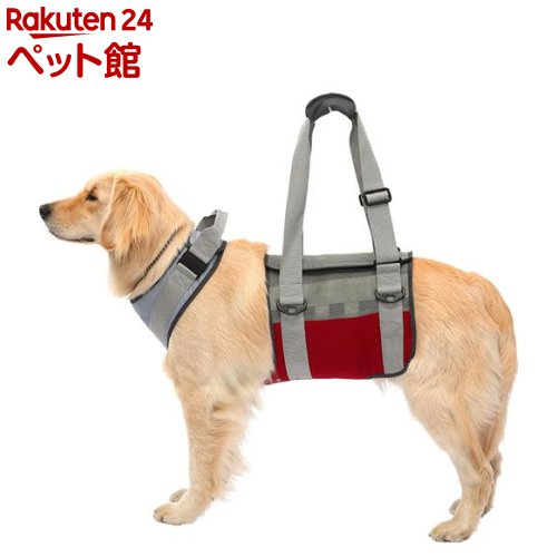 歩行補助ハーネスLaLaWalk 大型犬用 メッシュグレーワイン LL(1個)[爽快ペットストア]