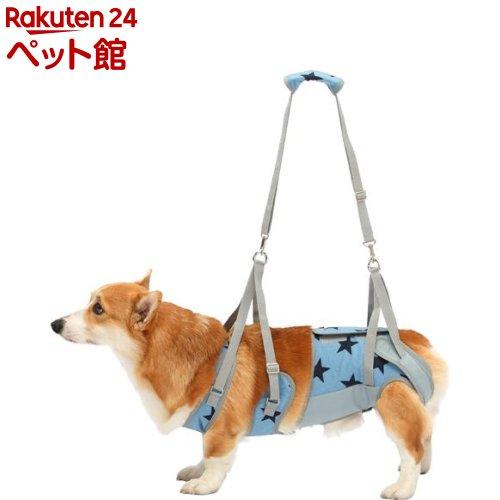 歩行補助ハーネスLaLaWalk 中型犬・コーギー用 スターデニム CM(1個)[爽快ペットストア]