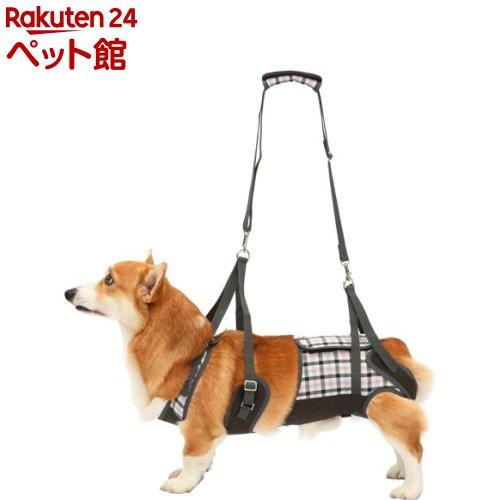 歩行補助ハーネスLaLaWalk 中型犬・コーギー用 パープルチェック CL(1個)[爽快ペットストア]