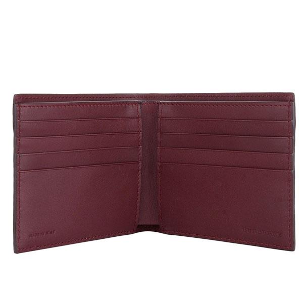 fc853543fc0c ... バーバリーロンドンBurberry財布メンズバーバリーロンドンBurberry二つ折り財布レザーウォレット二つ折り財布