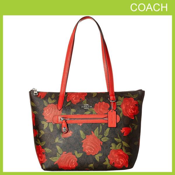 b78eaf1ac005 花柄 バラ 薔薇 シグネチャー A4収納可能 コーチ COACH バッグ トートバッグ ms31206-sva8t