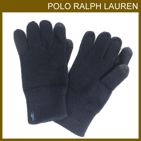 714b0b0d39c2 ポロラルフローレンラルフPoloRalphLaurenメンズ手袋グローブニットビッグポニーコットンブレンドテックグローブスマート
