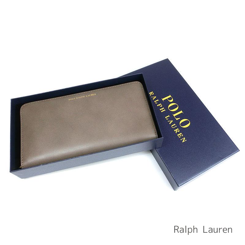 9be4eccc9783 ラルフローレン専用箱付き レザー ラウンドファスナー ポロ ラルフローレン Polo Ralph Lauren レディース 財布