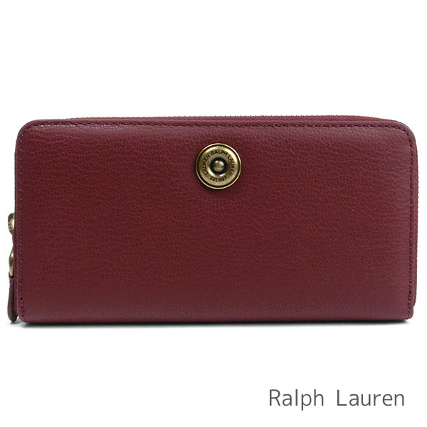 Lauren Ralph Lauren Professional Womens Leather Envelope Card Case Brown