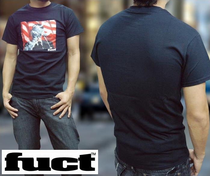 FUCT SSDD ファクト メンズ Tシャツ ケ○ディー ブラック インポート カジュアル ストリート スケーター ブランド スタイル HIPHOP ファッション ヒップホップ ウェアー B系 アメカジ ウェア