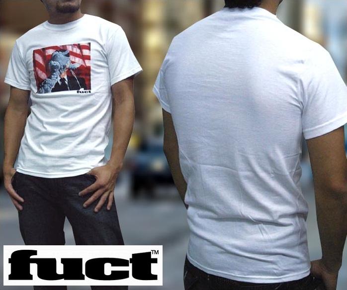 FUCT SSDD ファクト メンズ Tシャツ ケ○ディー ホワイト インポート カジュアル ストリート スケーター ブランド スタイル HIPHOP ファッション ヒップホップ ウェアー B系 アメカジ ウェア