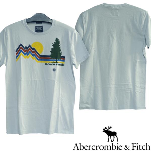 アバクロ Abercrombie&Fitch アバクロンビー&フィッチ メンズ 半袖 Tシャツ ROAM FREE ライトブルー アメカジ ブランド ファッション インポート カジュアル ヴィンテージ スタイル 正規 商品 071