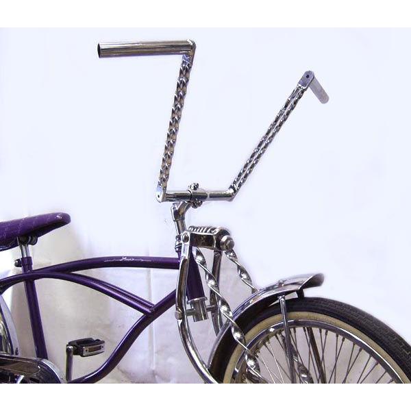 Bicycle Chrome Double Twisted Stem 22.2mm Lowrider Beach Chopper Bike 238230