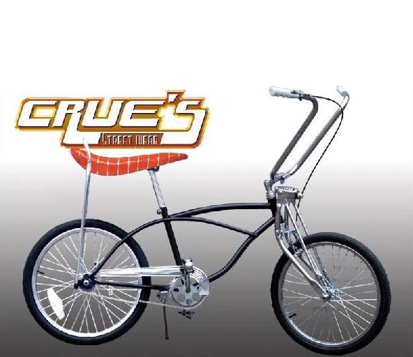 クルーズ ローライダー自転車 クラシック ブラック オレンジシート ローチャリ ビンテージ スタイル ビーチクルーザー 20インチ 小径 自転車 改造 Schwinn シュウィン スティングレー エレクトラ レインボー カスタム アメリカン チョッパー BMX MTB GRQ 小径自転車 ミニベロ