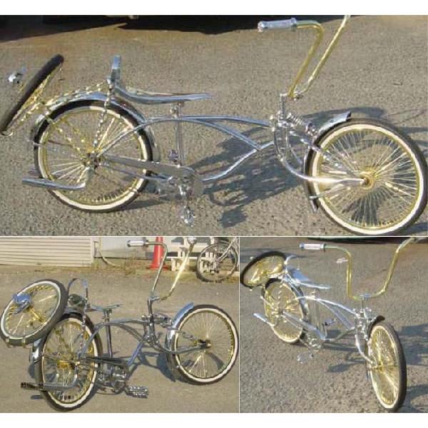 クルーズ ローライダー自転車 ゴールドコンビカスタム2 ローチャリ ビーチクルーザー 20インチ 小径 自転車 改造 世田谷ベース エレクトラ レインボー コンプトン カスタム アメリカン チョッパー BMX MTB 小径自転車 ミニベロ 小径車