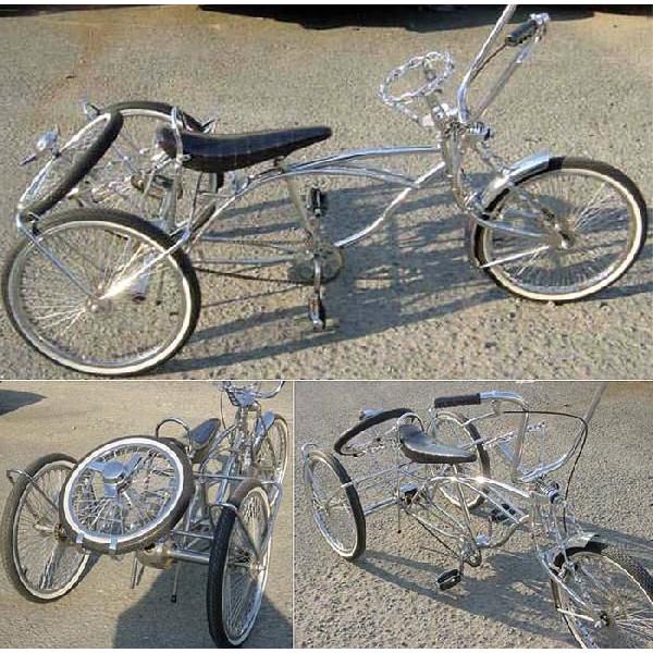 クルーズ ローライダー自転車 トライクカスタム2 ローチャリ ビーチクルーザー 20インチ 小径 自転車 改造 世田谷ベース エレクトラ レインボー コンプトン カスタム アメリカン チョッパー BMX MTB 小径自転車 ミニベロ 小径車