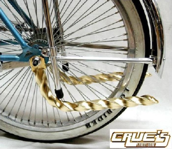 ツイスト マフラー ゴールド パイプカッター テールパイプ 自転車 パーツ 自転車部品 ローチャリ ビーチクルーザー カスタム 改造 部品 ローライダー BMX MTB チョッパー ミニベロ ママチャリ サイクルパーツ