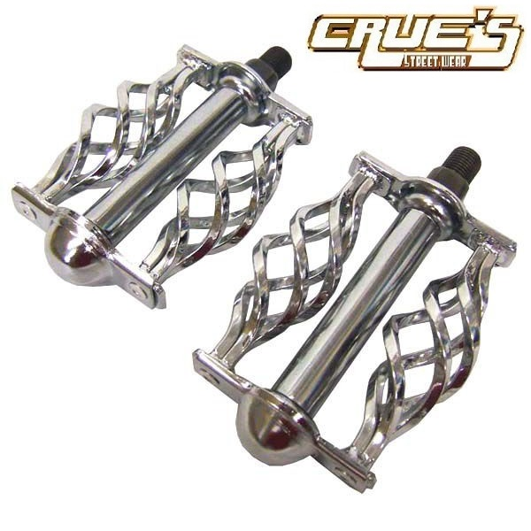 NEW Original Lowrider Twisted Muffler W//Cage Chrome Cruiser Chopper Bike