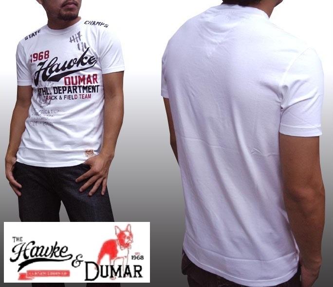 【セール】 ホークアンドデュマ メンズ Tシャツ ホワイト ホーク&デュマー HAWKE&DUMAR ストリート スタイル ニューヨーク ブルックリン ブランド HIPHOP ウェアー B系 服 ウェア ヒップホップ ファッション