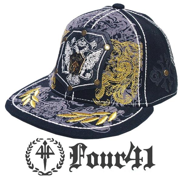 Four41 Los Angeles フォーフォーティーワン キャップ プレート ブラック 062 インポート メンズ レディース 帽子 インポート セレブ セレカジ アメカジ ストリート サーフ LA セレブ Ed Hardy エドハーディー ファッション ROCK ロック スタイル 好きに◎