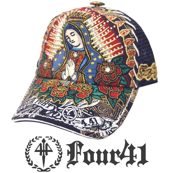 Four41 Los Angeles フォーフォーティーワン キャップ スワロフスキー ブラック 044 インポート メンズ レディース 帽子 インポート セレブ セレカジ アメカジ ストリート サーフ LA セレブ Ed Hardy エドハーディー ファッション ROCK ロック スタイル 好きに◎