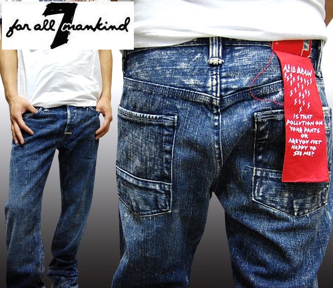 【送料無料】【セール】【世界777本 限定アイテム】 セブンフォーオールマンカインド メンズ デニム ストレート スリム パンツ 7 For All Mankind ジーンズ Limited Edition ハリウッド スター セレブ ファッション インポート LAカジュアル ブランド セレカジ スタイル