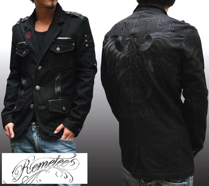 レメティー メンズ ジャケット ブラック REMETEE ライダースジャケット LAセレブ 多数着用 プレミアム ブランド セレブ カジュアル セレカジ ファッション ロック スタイル セール