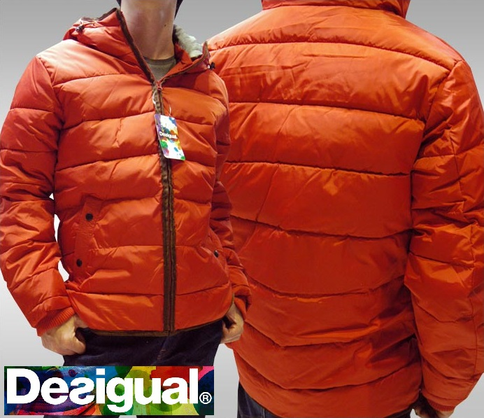 デシグアル Desigual メンズ ジャケット レッド 37E1922 7002 中綿 アウター スペイン セレカジ ヨーロピアン ファッション インポート ブランド アメカジ セレブ カジュアル スタイル 正規
