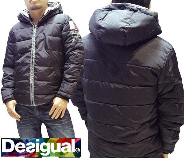 デシグアル Desigual メンズ ジャケット ブラック アウター Desigual 37E1922 中綿ジャケット スペイン セレカジ ヨーロピアン ファッション インポート ブランド アメカジ セレブ カジュアル スタイル 正規