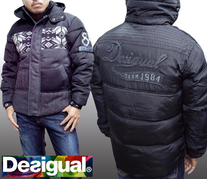 デシグアル Desigual メンズ 中綿 ジャケット ブラック Desigual 28E1905 フード付 アウター スペイン セレカジ ヨーロピアン ファッション インポート ブランド アメカジ セレブ カジュアル スタイル 正規