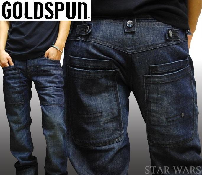 【セール】 ゴールドスパン メンズ デニム ストレート パンツ GOLDSPUN STAR WARS ジーンズ ブランド 正規品 LAセレブ スター 芸能人 多数着用 インポート LAカジュアル ファッション ハリウッド セレブ セレカジ ストリート ヒップホップ ダンス ロック HIPHOP スタイル