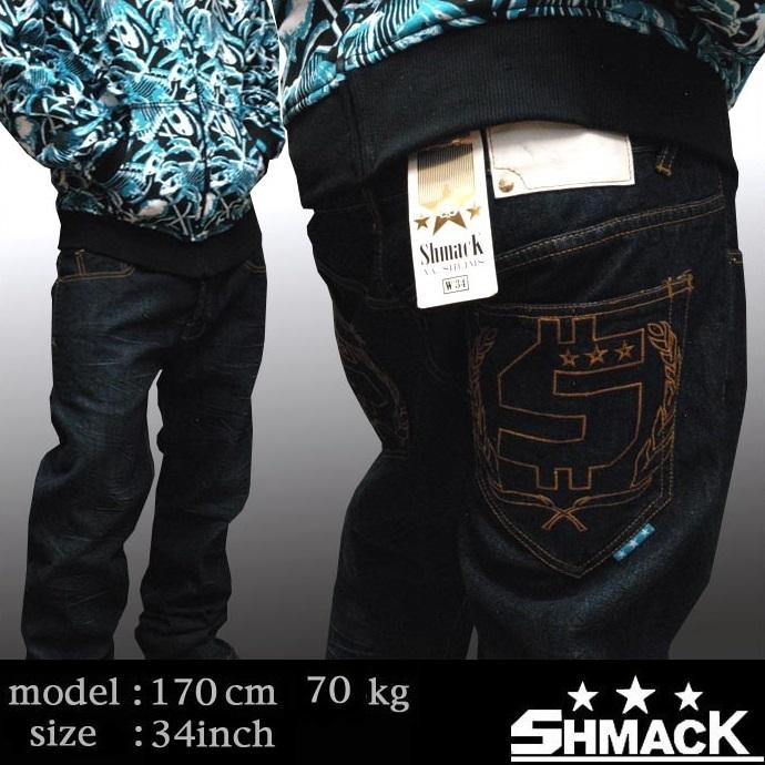 【セール】 シュマック メンズ デニム パンツ SHMACK VIRGINIA SHLIM DENIM インポート ジーンズ ストリート スタイル ブランド HIPHOP ウェアー B系 服 ダンス ウェア アメカジ ヒップホップ ファッション