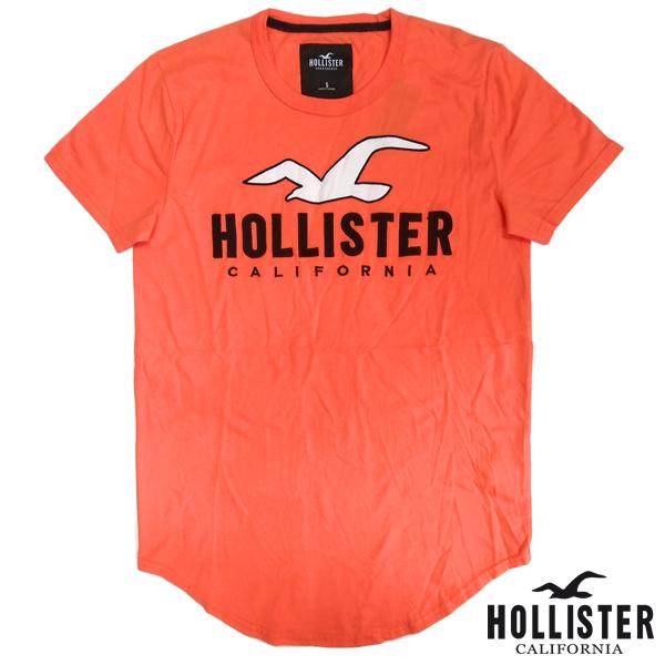 HOLLISTER ホリスター メンズ Tシャツ 刺しゅう LOGO オレンジ インポート ブランド ファッション カジュアル Safari サファリ LEON レオン オーシャンズ 雑誌 掲載 アメカジ セレカジ ストリート ウェア ヴィンテージ サーフ スタイル 正規 商品 129