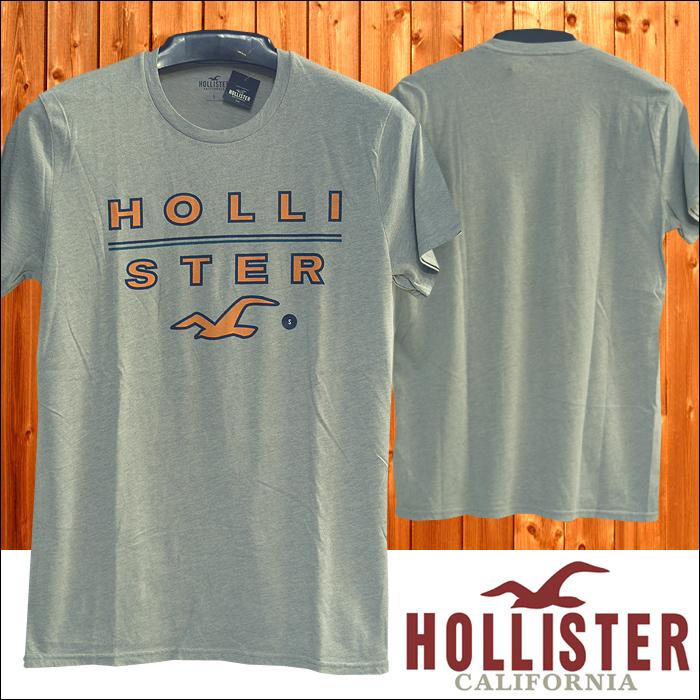 HOLLISTER ホリスター メンズ Tシャツ LOGO グレー アメカジ サーフ ブランド ファッション インポート カジュアル ヴィンテージ カリフォルニア スタイル 正規 商品 077