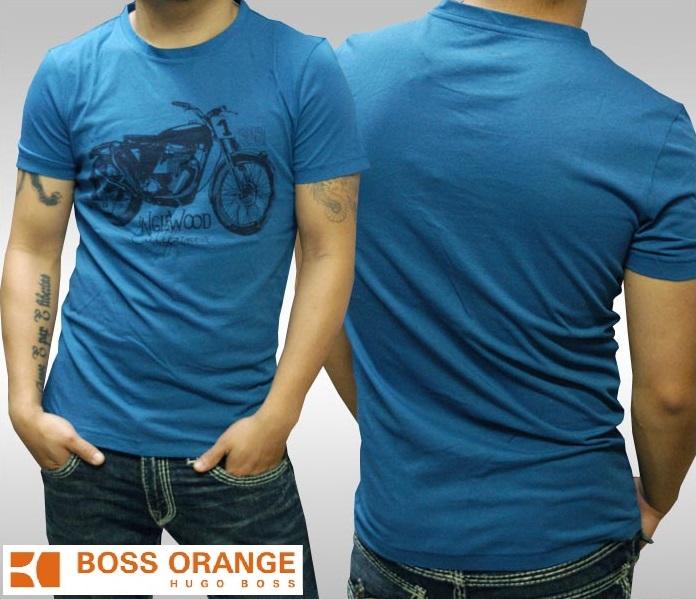 ヒューゴボス オレンジ メンズ Tシャツ RIDER ダークブルー HUGO BOSS ヒューゴ ボス トップス 半袖 シャツ safari サファリ LEON レオン SENSE センス 掲載 海外セレブ 多数着用 インポート ファッション ブランド ストリート サーフ カジュアル アメカジ スタイル