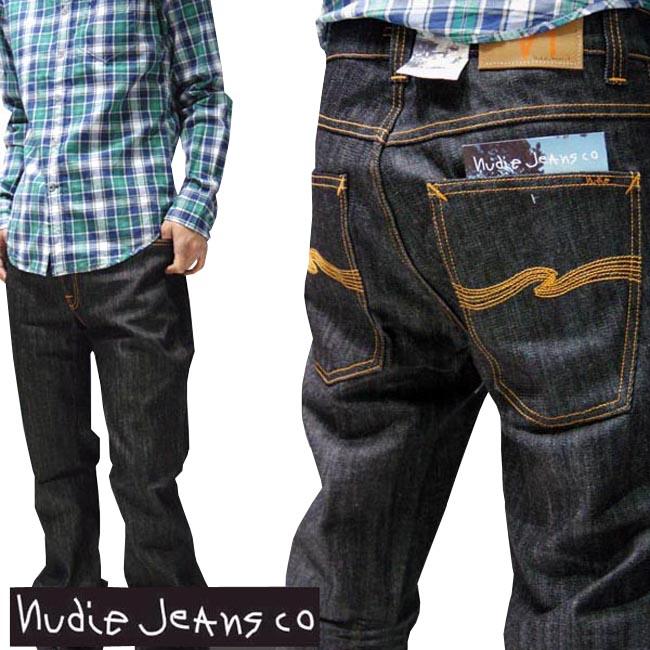 ヌーディージーンズ NUDIE JEANS メンズ タイト ストレート デニム パンツ SLIM JIM DRY BLACK ジーンズ セレブ ファッション サファリ掲載 パンツ インポート ブランド アメカジ ストリート カジュアル ウェア セレカジ スタイル 正規 商品