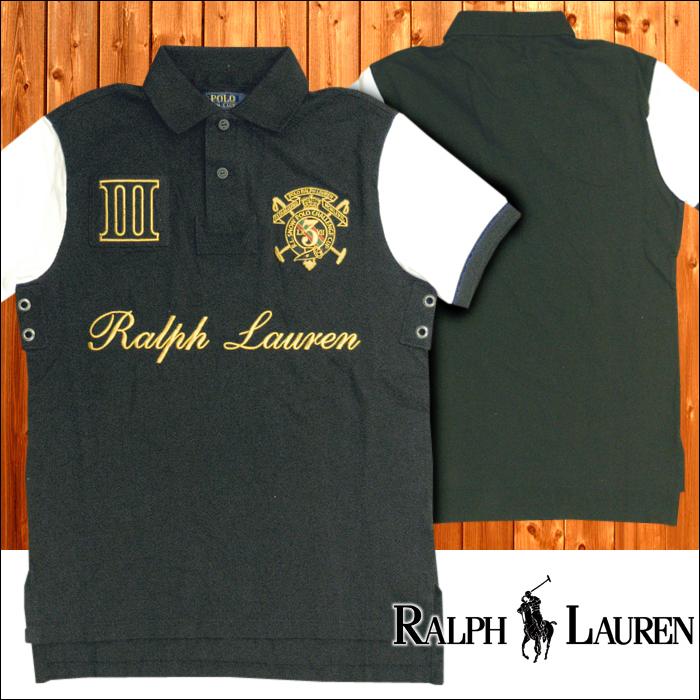 POLO RALPH LAUREN ポロ ラルフローレン メンズ 半袖 2トーン 鹿の子 ポロシャツ ブラック ホワイト ゴールド 刺繍 ラルフ カジュアル アメカジ スタイル ファッション