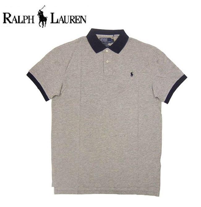 POLO RALPH LAUREN ポロ ラルフローレン メンズ 半袖 ポロシャツ 1ポイント PONY ポニー グレー ネイビー ラルフ カジュアル アメカジ スタイル ファッション