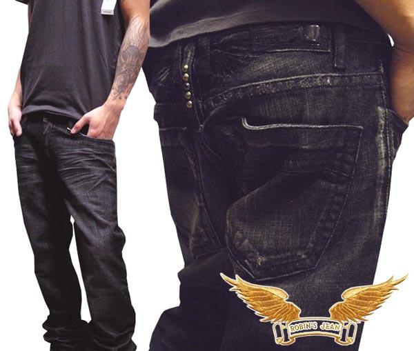 【送料無料】 ロビンズジーン メンズ デニム ローライズ ストレート パンツ ROBIN'S JEAN Vintage Dark BLACKWING 51 safari サファリ LEON レオン 掲載 ハイブランド ジーンズ ブランド ロビンズジーンズ セレブ ファッション ロビンジーンズ ストリート カジュアル