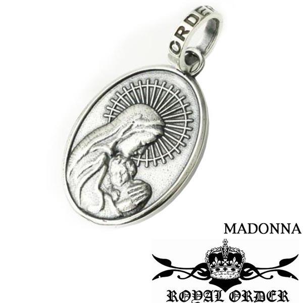 ロイヤルオーダー シルバー ペンダントトップ ネックレス チャーム ペンダント Royal Order Madonna SP329 メンズ レディース ジュエリー LEON レオン SAFARI サファリ 掲載 スタイル インポート アクセサリー ブランド MALIBU マリブ ペアネックレス プレゼントにも