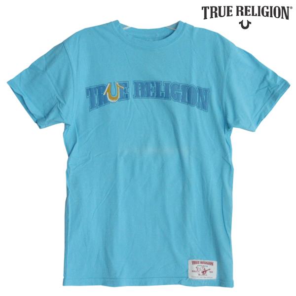 【訳あり・アウトレット】 トゥルーレリジョン メンズ TRUE RELIGION Tシャツ ブランド ロゴ ブルー tシャツ 半袖 シャツ セレブ 愛用 ブランド ファッション アメカジ インポート カジュアル ヴィンテージ スタイル 正規 商品