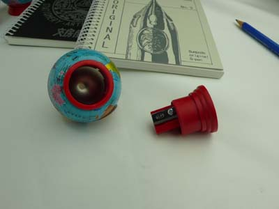 Small world have seen! Germany KUM (Kum), pencil sharpener hit from 1930, Globus remained until the present.