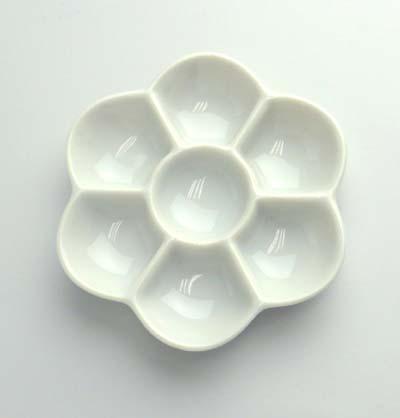 爆安 日本画 出色 水彩画に陶器梅皿 13.5cm