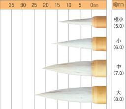 お取り寄せ 超安い ナムラ 水彩 デザイン 彩色筆サイズ:中 激安セール 軸幅7.0mm 日本画筆