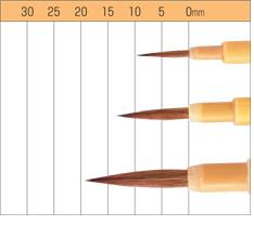 【お取り寄せ】ナムラ デザイン筆・日本画筆 清泉サイズ:中(軸幅3.5mm)