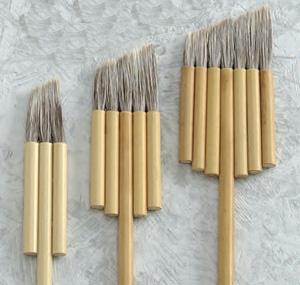 送料無料 お取り寄せ ハイクオリティ ナムラ 日本画刷毛特製 安心の実績 高価 買取 強化中 スラント連筆スラント3連筆