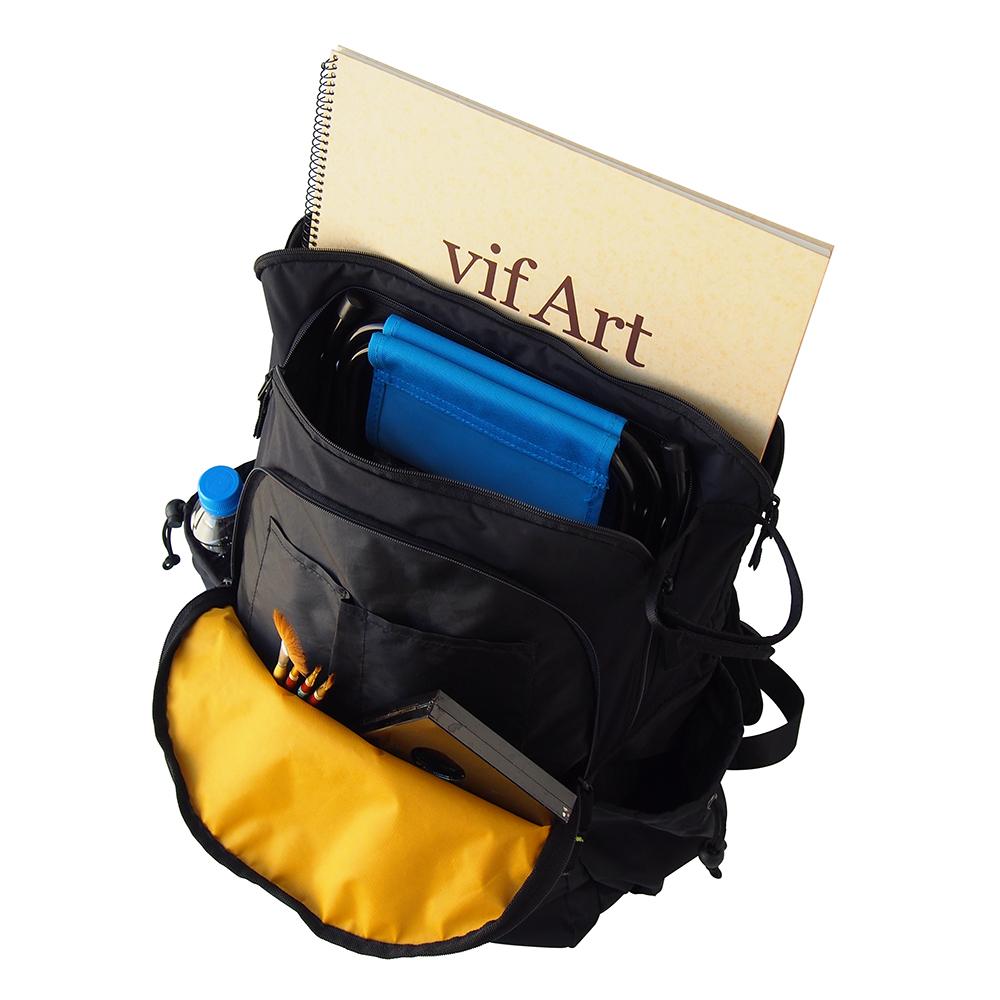 新色追加 スケッチバッグを主張するロゴが印象的☆ 送料無料 お取り寄せ品 マルマン スケッチバッグF6 収納 リュック 期間限定今なら送料無料 休み 画材
