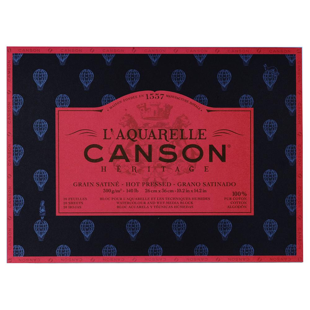 【送料無料】キャンソン ヘリテージ水彩紙 ブロック 300g/m2極細目20枚 310×410mm