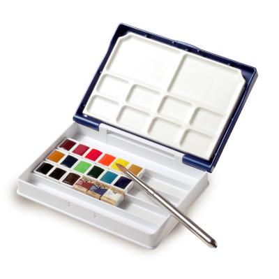 New Palm box Holbein solid watercolor paints artist Pan color 24-color set (Palm plus)