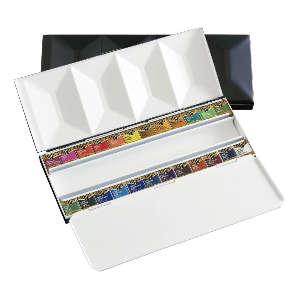 【送料無料】【お取り寄せ品】ホルベイン 固形水彩絵具 アーチストパンカラー 24色セット (メタルボックス) PN682