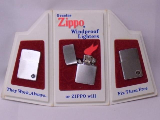【保存資料】Zippo 販売促進用ディスプレイ 3つ折り型 1974年前後製