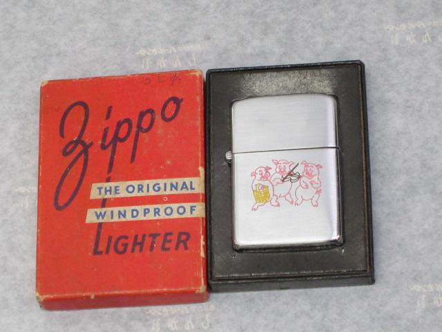 【保存資料】ビンテージZippo 3匹の子豚  プロトタイプ 3バレル 1947-49年製未使用