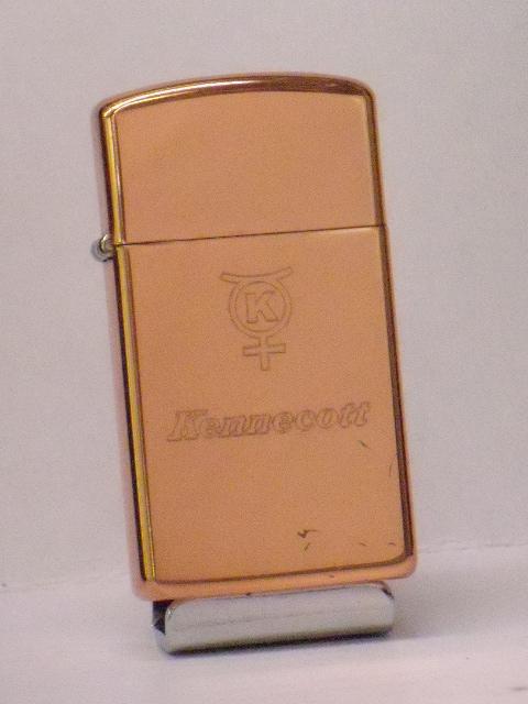 復古Zippo kenekotto製造銅公司雨衣(銅)製造纖細1969年製造未使用
