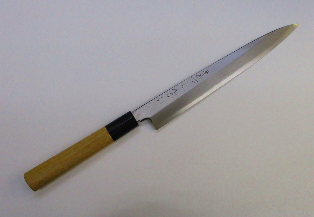 あさがや しんかい 柳刃包丁 刺身包丁 21センチ 銀紙3号ステンレス鋼 Asagaya Shinkai Yanagiba Sashimi Kitchen Knife 21cm Gingami #3 Stainless Steel