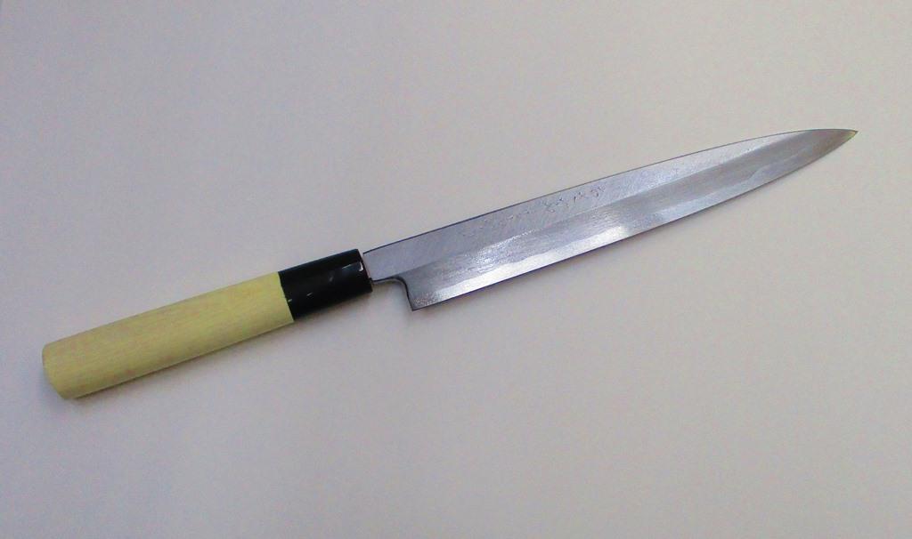 あさがや しんかい 柳刃包丁 刺身包丁 21センチ 白紙2号鋼(日立金属安来工場製) Asagaya Shinkai Yanagiba Sashimi Kitchen Knife 21cm